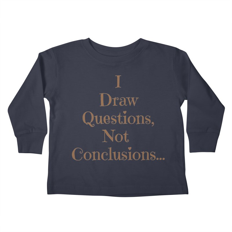 IDQNC-021 (brown) Kids Toddler Longsleeve T-Shirt by jeffjacques's Artist Shop