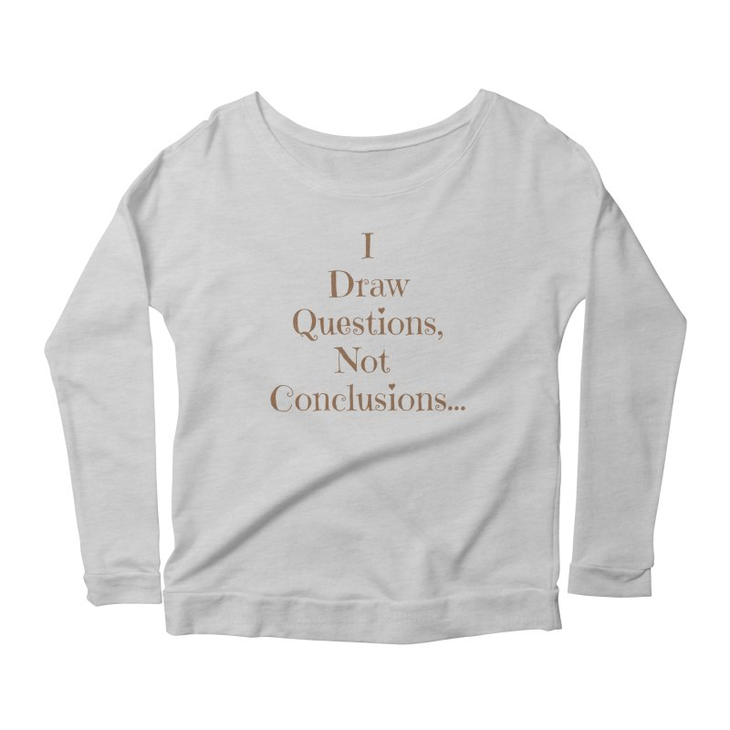 IDQNC-021 (brown) Women's Scoop Neck Longsleeve T-Shirt by jeffjacques's Artist Shop