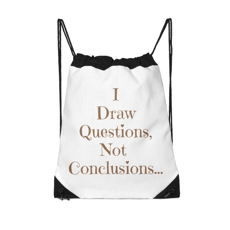 IDQNC-021 (brown) Accessories Drawstring Bag Bag by jeffjacques's Artist Shop