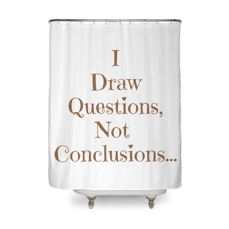 IDQNC-021 (brown) Home Shower Curtain by jeffjacques's Artist Shop