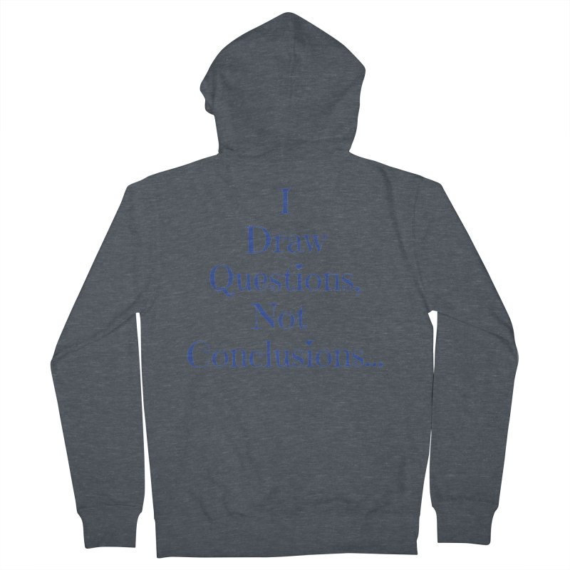 IDQNC-021 (Dark Blue) Men's French Terry Zip-Up Hoody by jeffjacques's Artist Shop