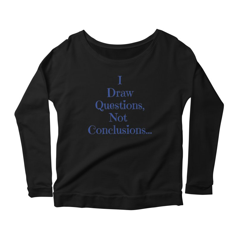 IDQNC-021 (Dark Blue) Women's Scoop Neck Longsleeve T-Shirt by jeffjacques's Artist Shop