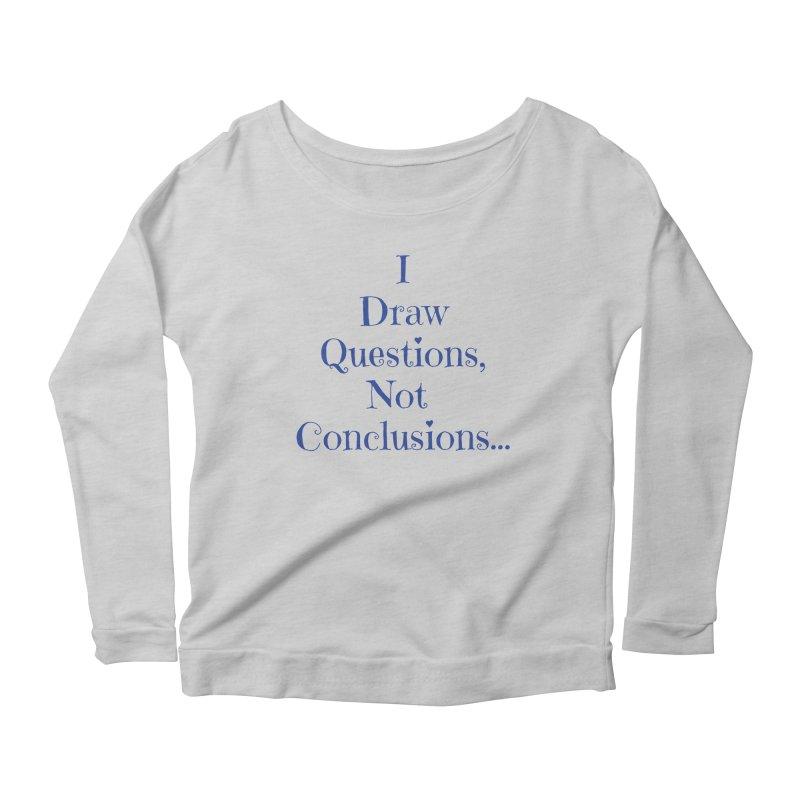 IDQNC-021 (Dark Blue) Women's Scoop Neck Longsleeve T-Shirt by jeffjacques's Artist Shop