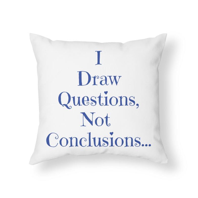 IDQNC-021 (Dark Blue) Home Throw Pillow by jeffjacques's Artist Shop