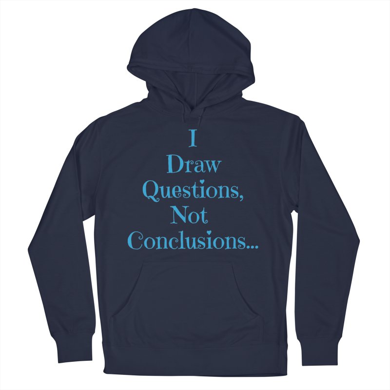 IDQNC-021 (Light Blue) Women's French Terry Pullover Hoody by jeffjacques's Artist Shop