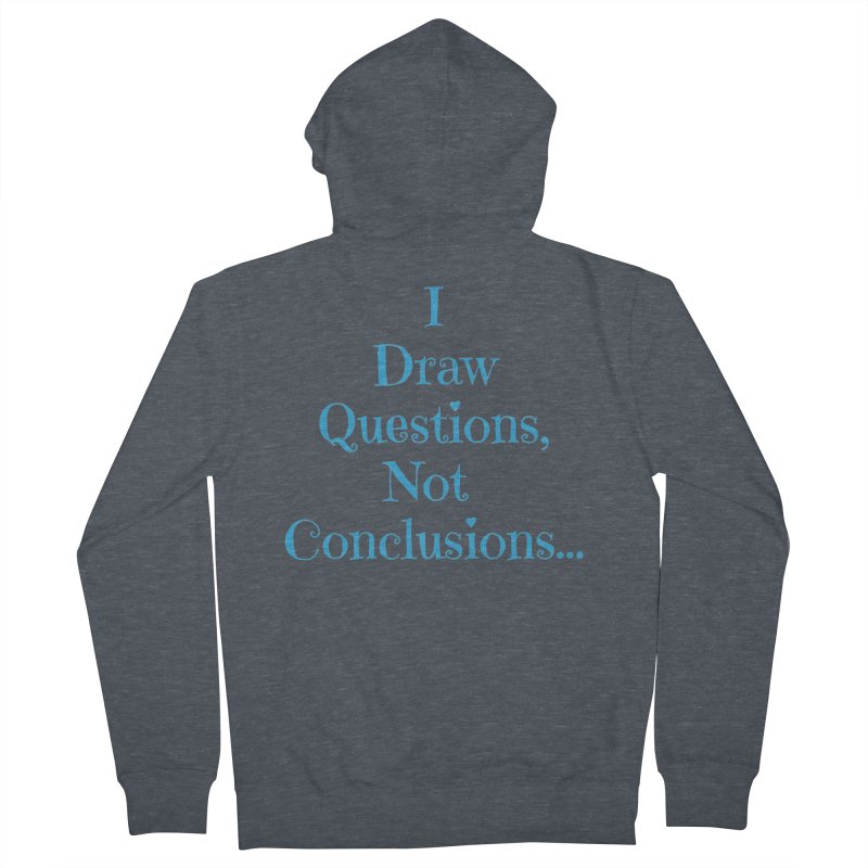 IDQNC-021 (Light Blue) Women's French Terry Zip-Up Hoody by jeffjacques's Artist Shop