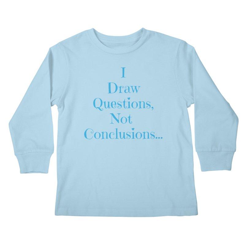 IDQNC-021 (Light Blue) Kids Longsleeve T-Shirt by jeffjacques's Artist Shop