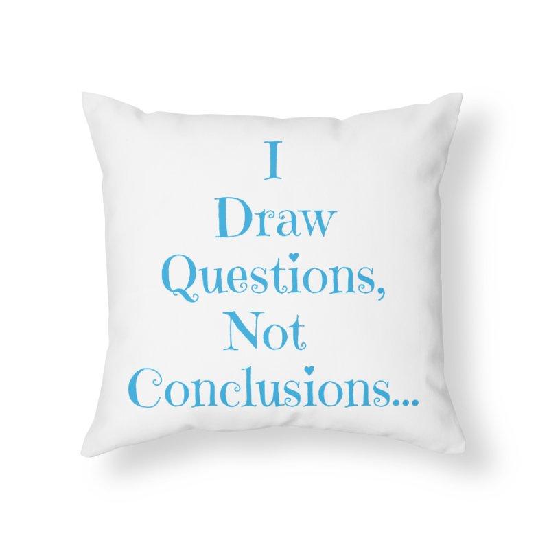 IDQNC-021 (Light Blue) Home Throw Pillow by jeffjacques's Artist Shop
