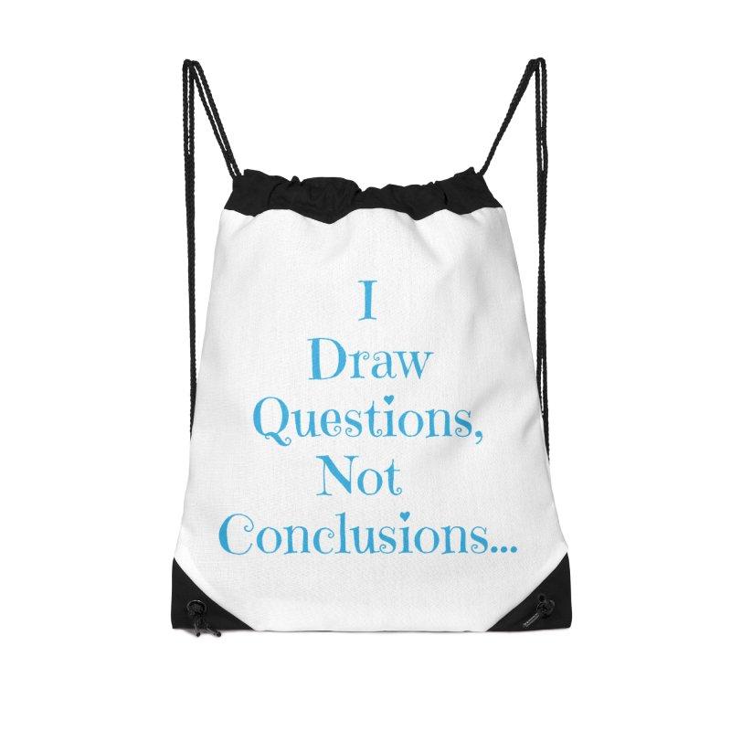 IDQNC-021 (Light Blue) Accessories Drawstring Bag Bag by jeffjacques's Artist Shop