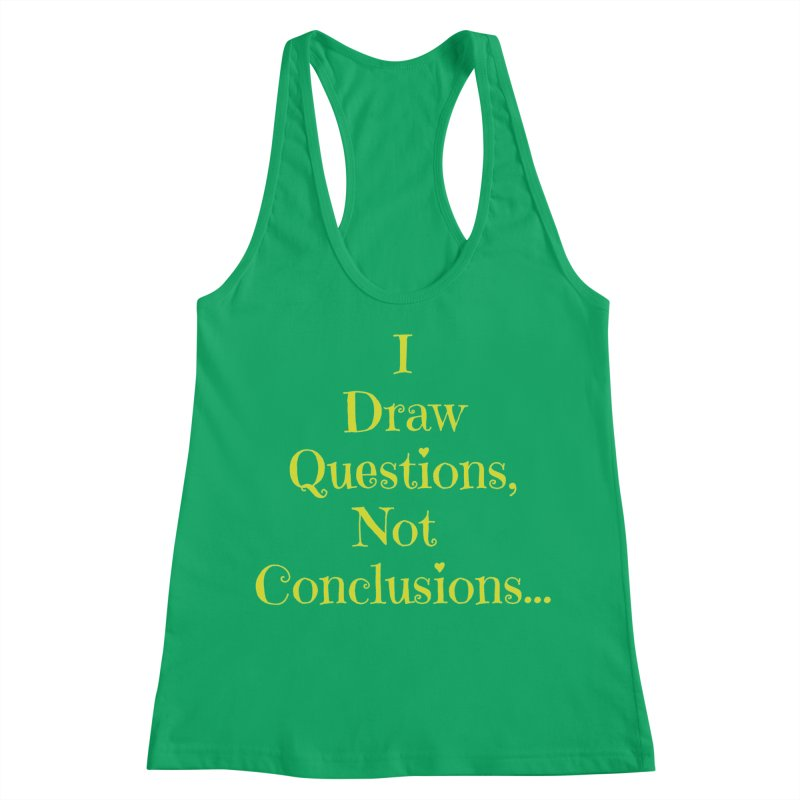 IDQNC-021 (lime) Women's Racerback Tank by jeffjacques's Artist Shop