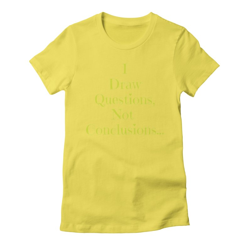 IDQNC-021 (lime) Women's Fitted T-Shirt by jeffjacques's Artist Shop