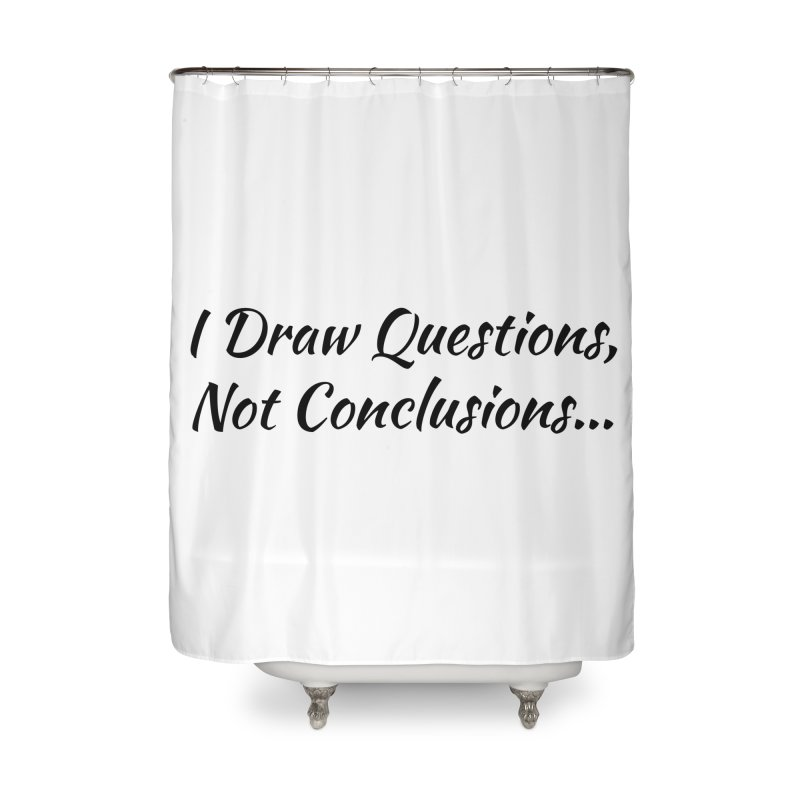 IDQNC-022 (black) Home Shower Curtain by jeffjacques's Artist Shop