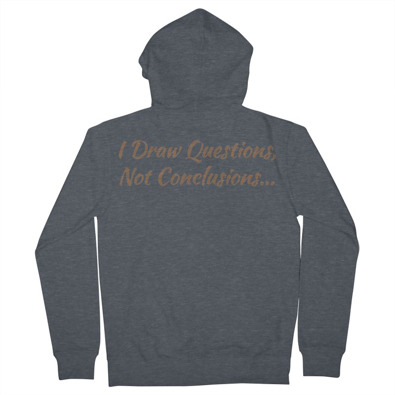 IDQNC-022 (brown) Men's French Terry Zip-Up Hoody by jeffjacques's Artist Shop
