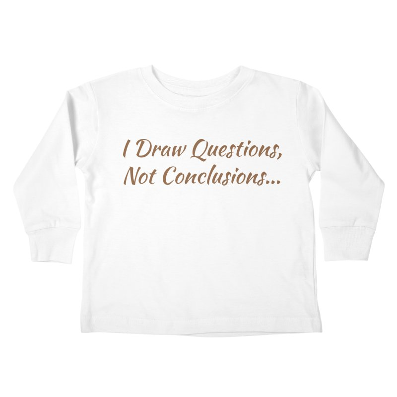 IDQNC-022 (brown) Kids Toddler Longsleeve T-Shirt by jeffjacques's Artist Shop