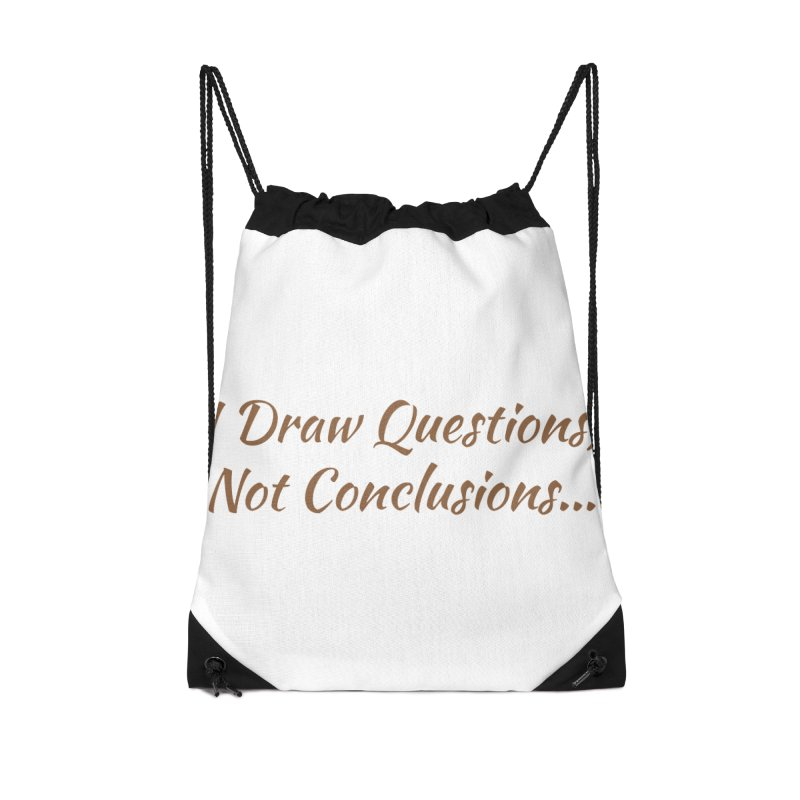 IDQNC-022 (brown) Accessories Drawstring Bag Bag by jeffjacques's Artist Shop