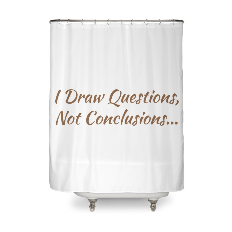 IDQNC-022 (brown) Home Shower Curtain by jeffjacques's Artist Shop