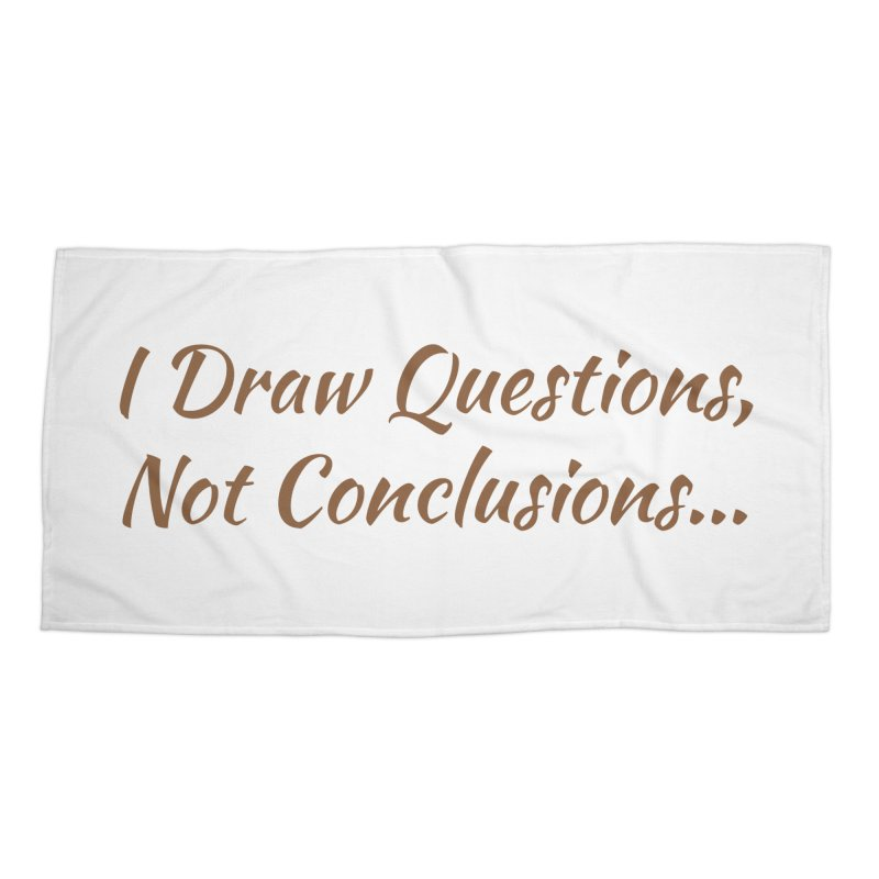 IDQNC-022 (brown) Accessories Beach Towel by jeffjacques's Artist Shop