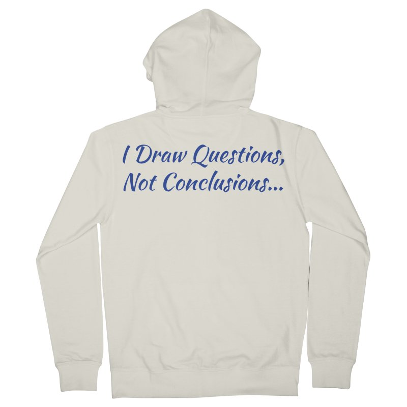 IDQNC-022 (Dark Blue) Men's French Terry Zip-Up Hoody by jeffjacques's Artist Shop