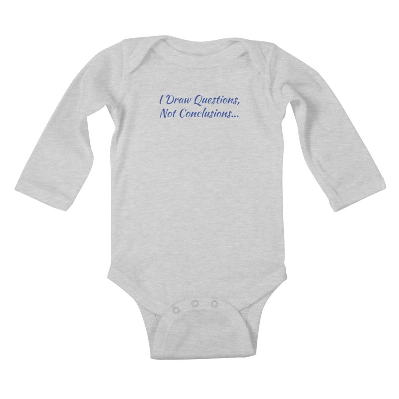 IDQNC-022 (Dark Blue) Kids Baby Longsleeve Bodysuit by jeffjacques's Artist Shop