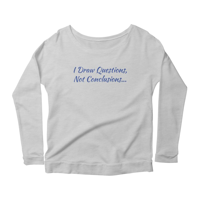 IDQNC-022 (Dark Blue) Women's Scoop Neck Longsleeve T-Shirt by jeffjacques's Artist Shop