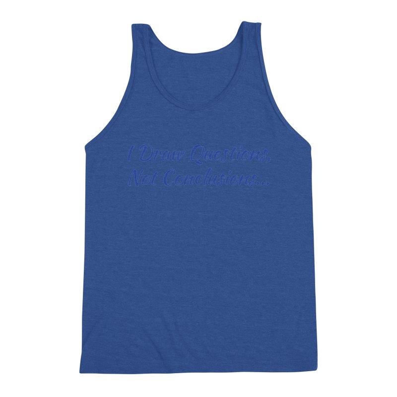 IDQNC-022 (Dark Blue) Men's Triblend Tank by jeffjacques's Artist Shop