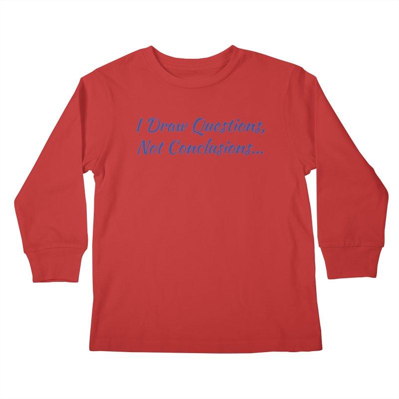 IDQNC-022 (Dark Blue) Kids Longsleeve T-Shirt by jeffjacques's Artist Shop