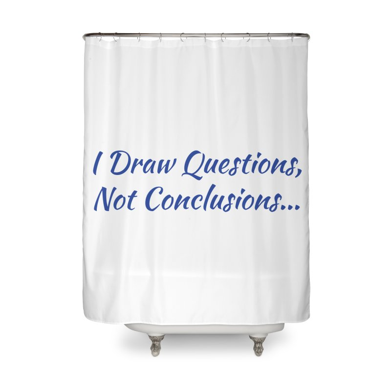 IDQNC-022 (Dark Blue) Home Shower Curtain by jeffjacques's Artist Shop