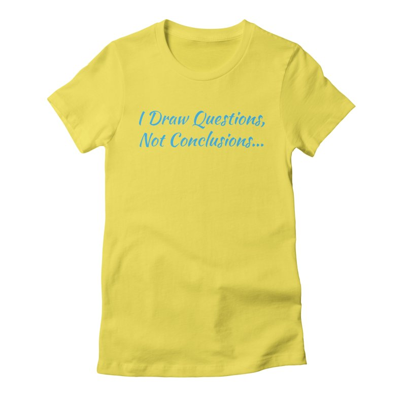 IDQNC-022 (Light Blue) Women's Fitted T-Shirt by jeffjacques's Artist Shop