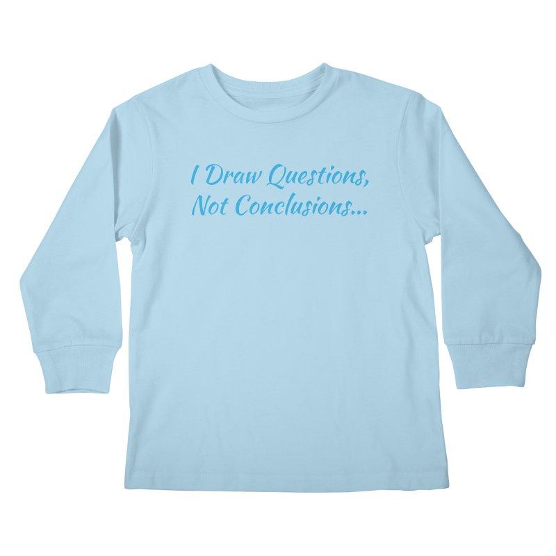 IDQNC-022 (Light Blue) Kids Longsleeve T-Shirt by jeffjacques's Artist Shop