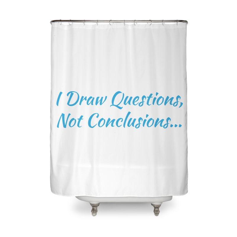 IDQNC-022 (Light Blue) Home Shower Curtain by jeffjacques's Artist Shop