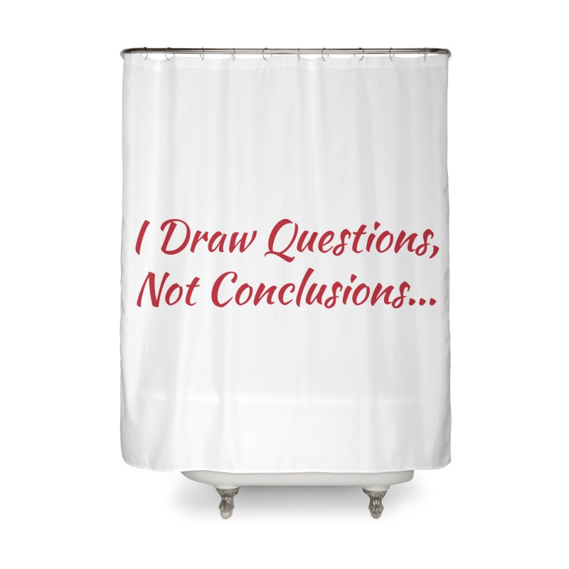 IDQNC-022 (Red) Home Shower Curtain by jeffjacques's Artist Shop