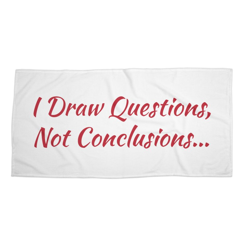 IDQNC-022 (Red) Accessories Beach Towel by jeffjacques's Artist Shop