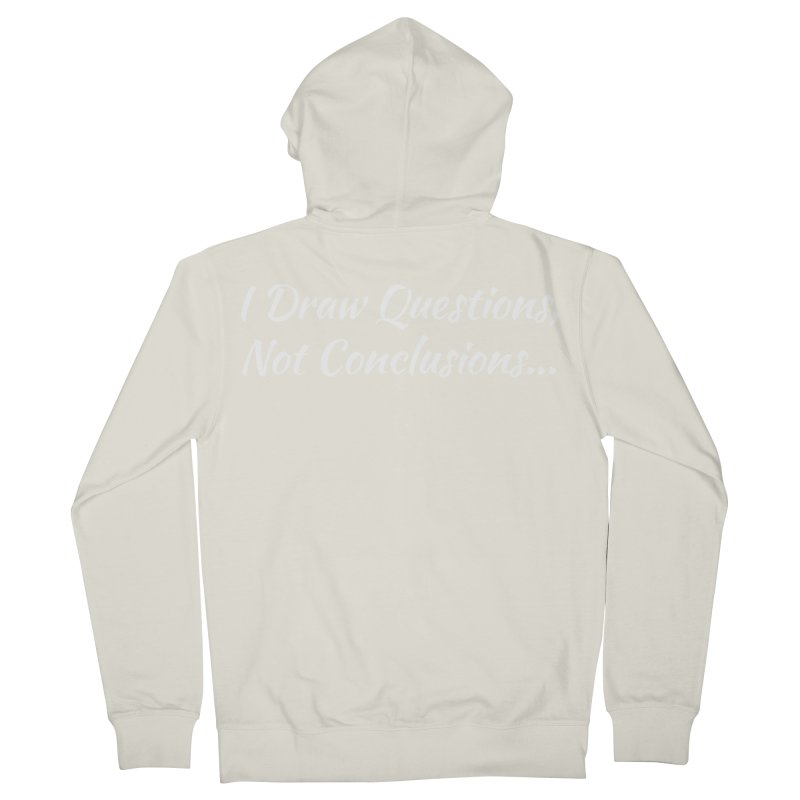 IDQNC-022 (White) Men's French Terry Zip-Up Hoody by jeffjacques's Artist Shop