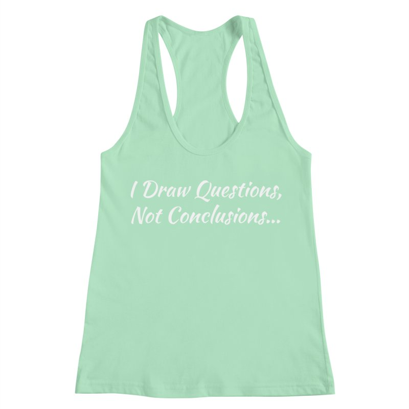 IDQNC-022 (White) Women's Racerback Tank by jeffjacques's Artist Shop