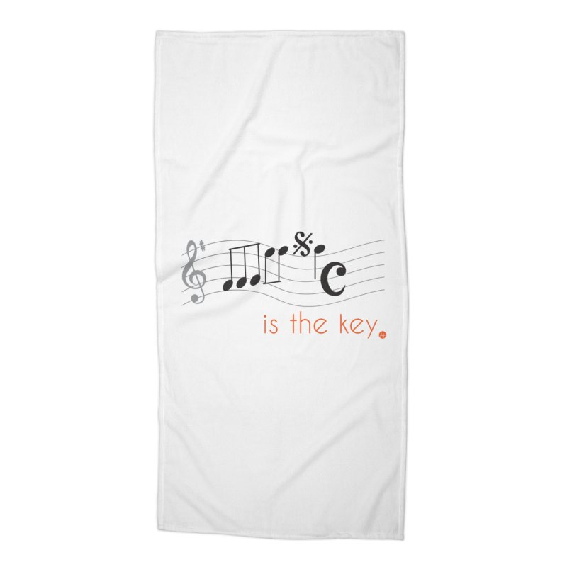 Music is the Key Accessories Beach Towel by jefo's Artist Shop