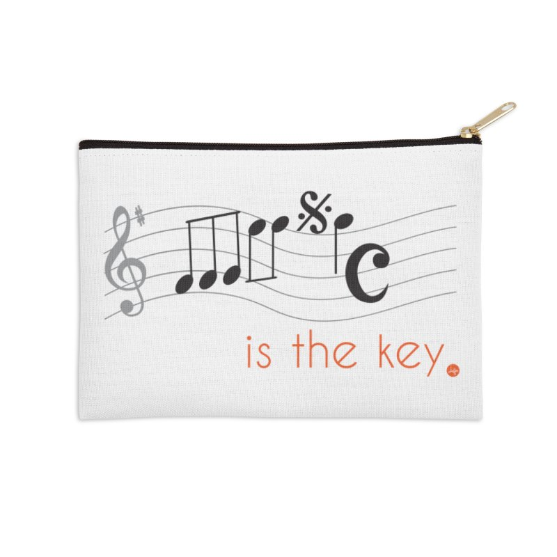 Music is the Key Accessories Zip Pouch by jefo's Artist Shop