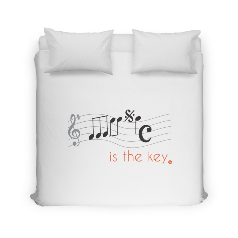 Music is the Key Home Duvet by jefo's Artist Shop