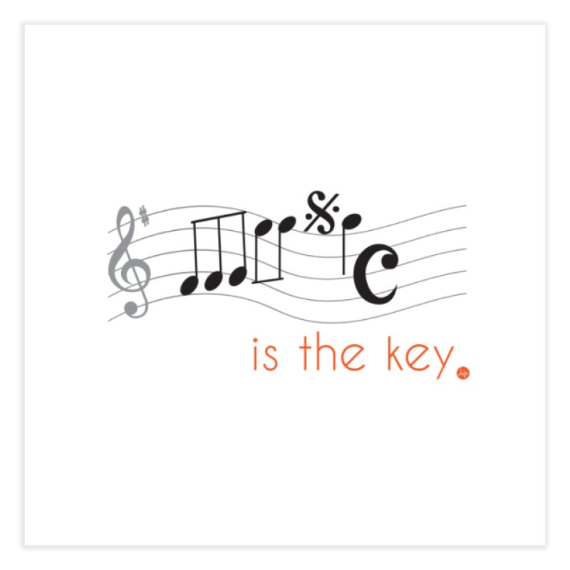 Music is the Key Home Fine Art Print by jefo's Artist Shop