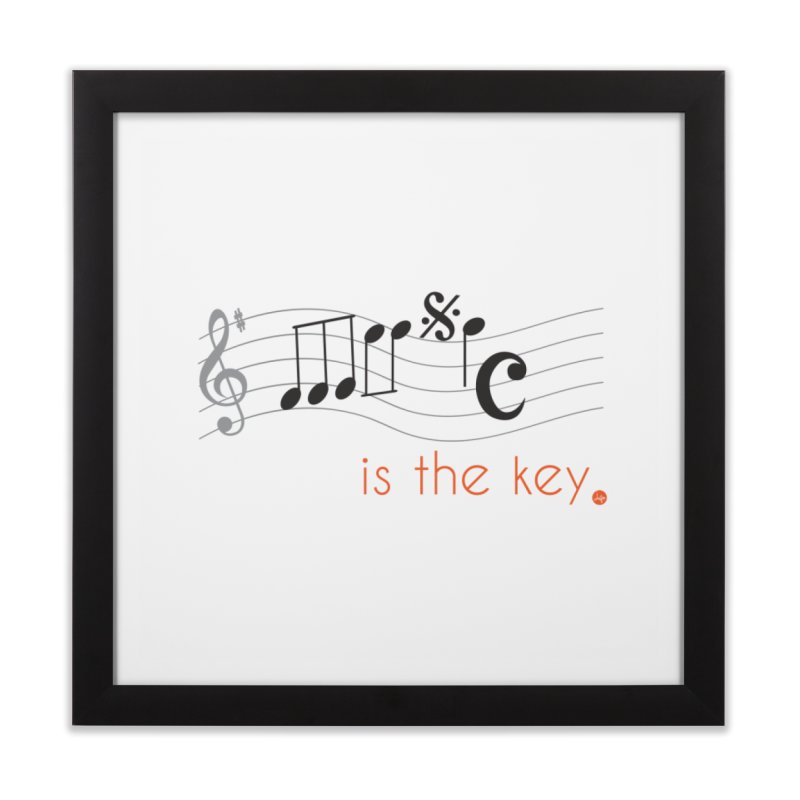 Music is the Key Home Framed Fine Art Print by jefo's Artist Shop