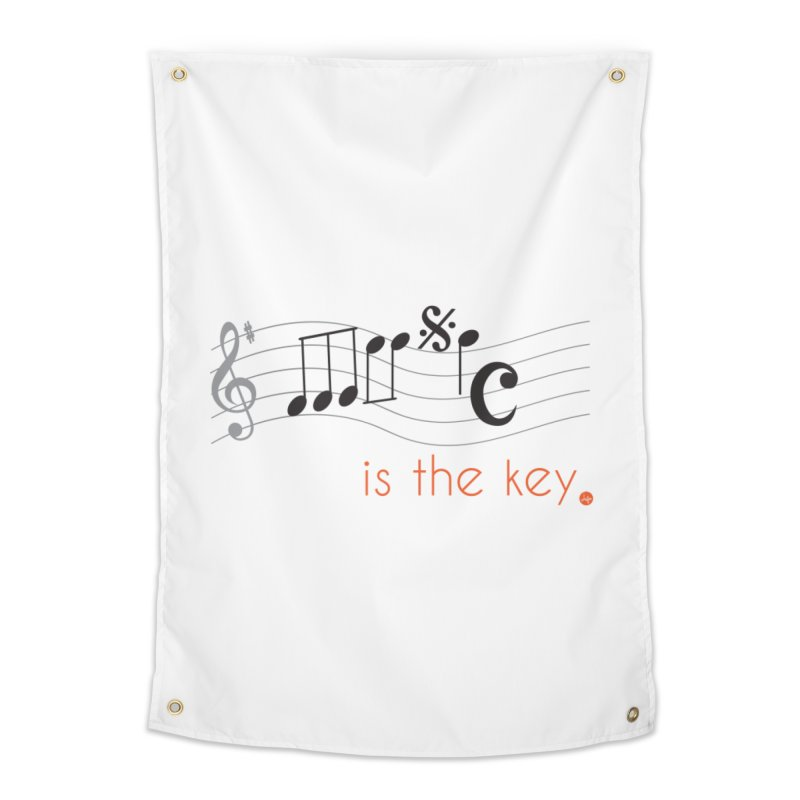 Music is the Key Home Tapestry by jefo's Artist Shop