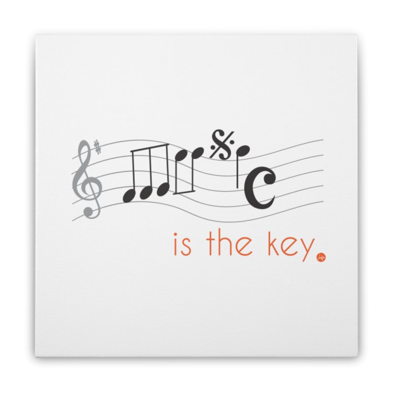 Music is the Key Home Stretched Canvas by jefo's Artist Shop