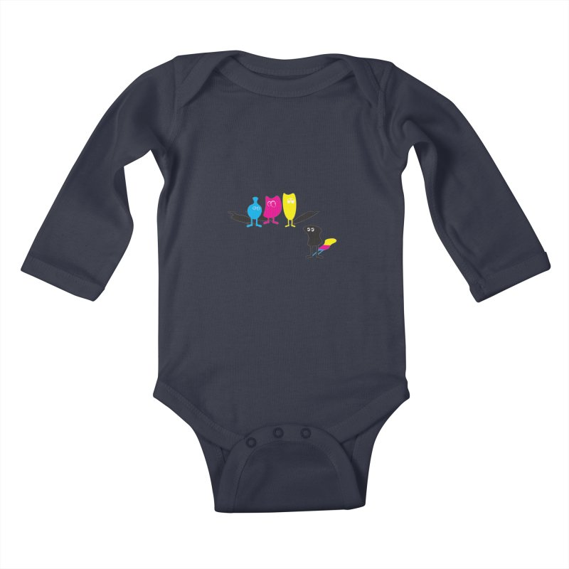 CMY...what? Kids Baby Longsleeve Bodysuit by jefo's Artist Shop