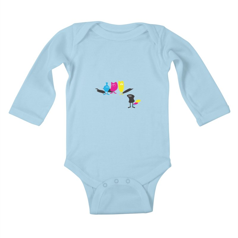 CMY...what? Kids Baby Longsleeve Bodysuit by jefo's Artist Shop