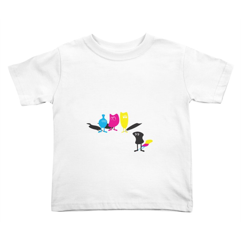 CMY...what? Kids Toddler T-Shirt by jefo's Artist Shop