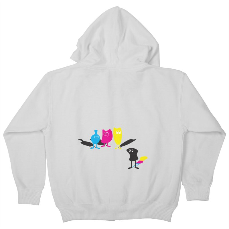 CMY...what? Kids Zip-Up Hoody by jefo's Artist Shop