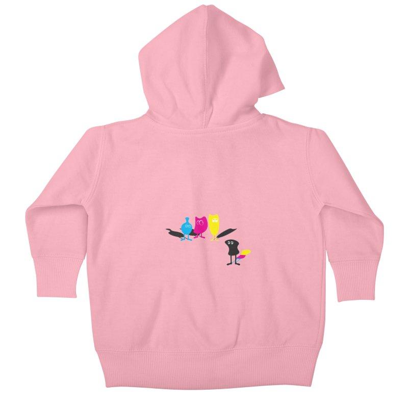 CMY...what? Kids Baby Zip-Up Hoody by jefo's Artist Shop
