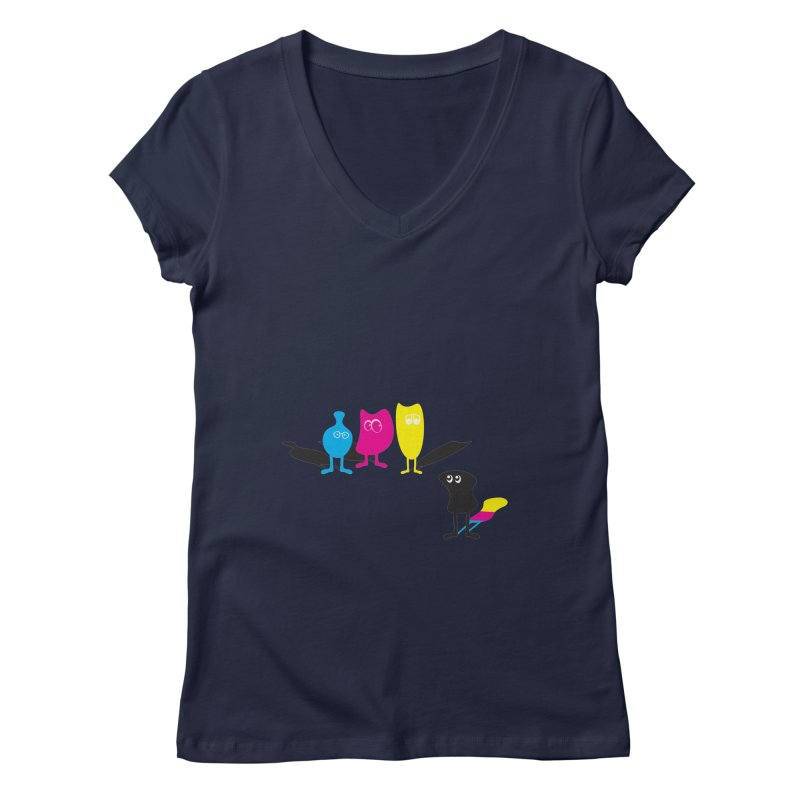 CMY...what? Women's V-Neck by jefo's Artist Shop
