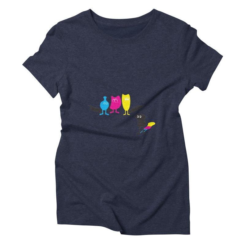CMY...what? Women's Triblend T-Shirt by jefo's Artist Shop
