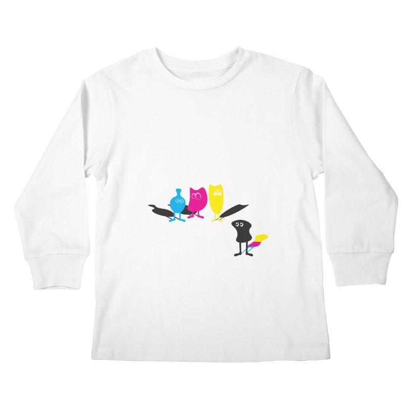 CMY...what? Kids Longsleeve T-Shirt by jefo's Artist Shop