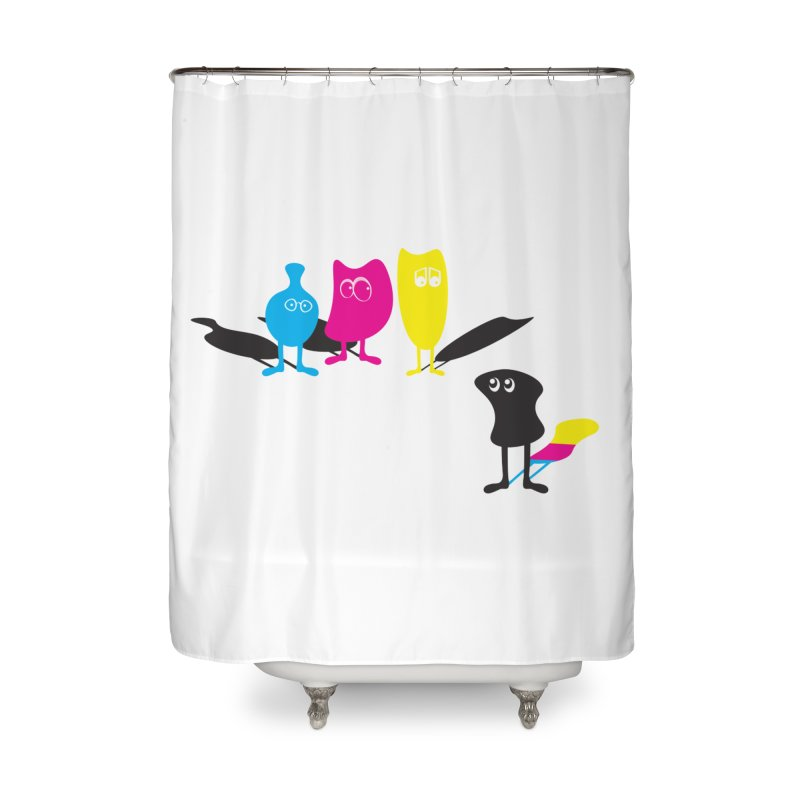 CMY...what? Home Shower Curtain by jefo's Artist Shop